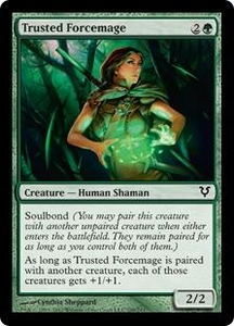 Magic the Gathering Avacyn Restored Single Card Green Common #199 Trusted Forcemage