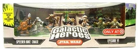 Star Wars Galactic Heroes Exclusive Deluxe Cinema Scene Mini Figure Multi Pack Speeder Bike Chase