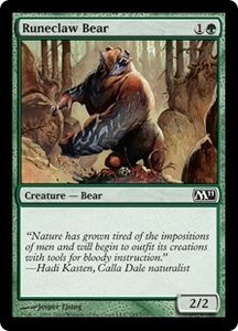 Magic the Gathering Magic 2011 (M11) Single Card Common #195 Runeclaw Bear