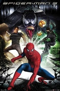Spider-Man 3 Movie Poster Villains #9010