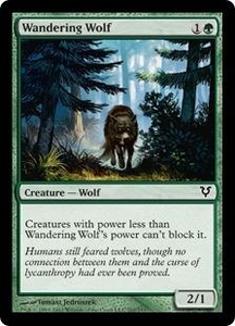 Magic the Gathering Avacyn Restored Single Card Green Common #202 Wandering Wolf