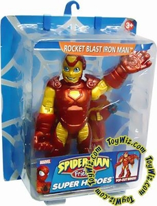 Spider-Man & Friends Super Heroes Action Figure Rocket Blast Iron Man