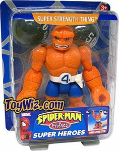 Spider-Man & Friends Super Heroes Action Figure Super Strength Thing Damaged Package, Mint Contents!