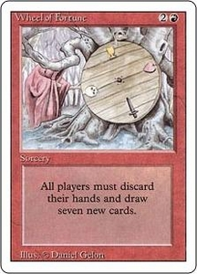 Magic the Gathering Revised Edition Single Card Rare Wheel of Fortune