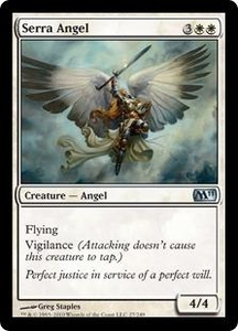 Magic the Gathering Magic 2011 (M11) Single Card Uncommon #27 Serra Angel