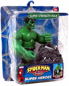 Spider-Man & Friends Super Heroes Action Figure Super Strength Hulk Damaged Package, Mint Contents!