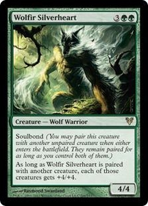 Magic the Gathering Avacyn Restored Single Card Green Rare #206 Wolfir Silverheart