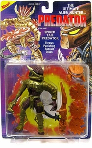 Predator Kenner Vintage 1994 Action Figure Spiked Tail Predator [Throws Assault Disks]