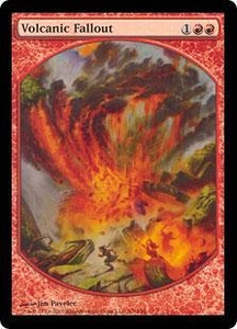 Magic the Gathering Textless Player Rewards Promo Card Volcanic Fallout [Textless Player Rewards]