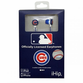 iHip MLB Baseball Sports Earphones Chicago Cubs Logo Earbuds