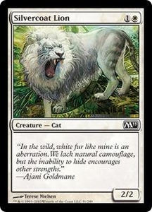 Magic the Gathering Magic 2011 (M11) Single Card Common #31 Silvercoat Lion