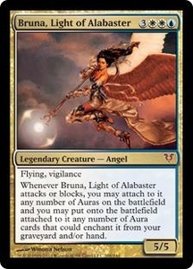 Magic the Gathering Avacyn Restored Single Card Gold Mythic Rare #208 Bruna, Light of Alabaster