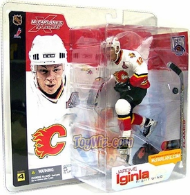 McFarlane Toys NHL Sports Picks Series 4 Action Figure Jarome Iginla (Calgary Flames) White Jersey