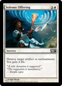 Magic the Gathering Magic 2011 (M11) Single Card Common #32 Solemn Offering
