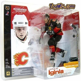 McFarlane Toys NHL Sports Picks Series 4 Action Figure Jarome Iginla (Calgary Flames) Black Jersey Variant