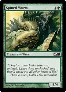 Magic the Gathering Magic 2011 (M11) Single Card Common #197 Spined Wurm