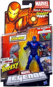 Marvel Legends 2012 Series 1 Action Figure Extremis Iron Man {Stealth Blue Variant} [Terrax Build-A-Figure Piece]