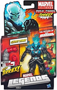 Marvel Legends 2012 Series 1 Action Figure Ghost Rider {Blue Head} [Terrax Build-A-Figure Piece]