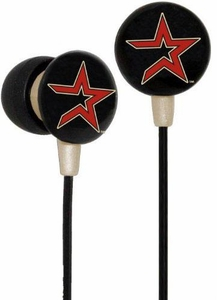 iHip MLB Baseball Sports Earphones Houston Astros Logo Earbuds
