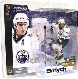 McFarlane Toys NHL Sports Picks Series 4 Action Figure Ryan Smyth (Edmonton Oilers) White Jersey