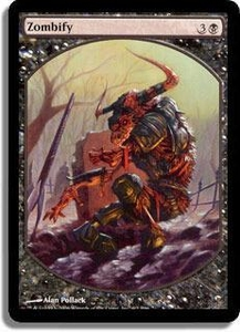 Magic the Gathering Textless Player Rewards Promo Card Zombify [Textless Player Rewards]