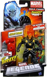 Marvel Legends 2012 Series 1 Action Figure Ghost Rider {Red / Orange Head Variant} [Terrax Build-A-Figure Piece]