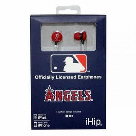 iHip MLB Baseball Sports Earphones Los Angeles Angels Logo Earbuds