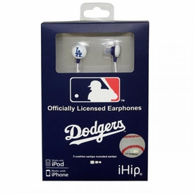 iHip MLB Baseball Sports Earphones Los Angeles Dodgers Logo Earbuds