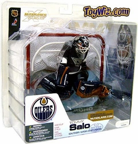 McFarlane Toys NHL Sports Picks Series 4 Action Figure Tommy Salo (Edmonton Oilers) Blue Jersey BLOWOUT SALE!