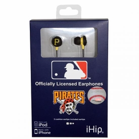 iHip MLB Baseball Sports Earphones Pittsburgh Pirates Logo Earbuds