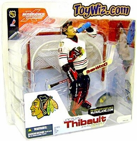 McFarlane Toys NHL Sports Picks Series 4 Action Figure Jocelyn Thibault (Chicago Blackhawks) White Jersey BLOWOUT SALE!