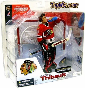 McFarlane Toys NHL Sports Picks Series 4 Action Figure Jocelyn Thibault (Chicago Blackhawks) Red Jersey Variant