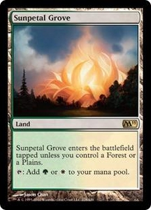 Magic the Gathering Magic 2011 (M11) Single Card Rare #228 Sunpetal Grove