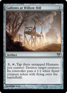 Magic the Gathering Avacyn Restored Single Card Artifact Rare #215 Gallows at Willow Hill