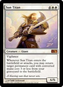 Magic the Gathering Magic 2011 (M11) Single Card Mythic Rare #35 Sun Titan