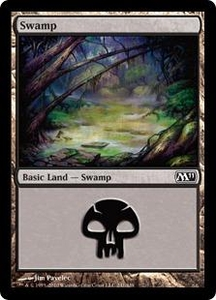 Magic the Gathering Magic 2011 (M11) Single Card Land #238 Swamp [Random Artwork]