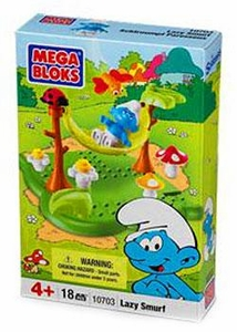 The Smurfs Mega Bloks Set #10703 Lazy Smurf BLOWOUT SALE!