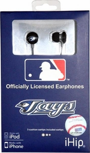 iHip MLB Baseball Sports Earphones Toronto Blue Jays Logo Earbuds
