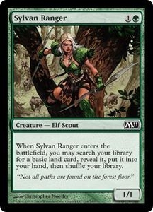 Magic the Gathering Magic 2011 (M11) Single Card Common #198 Sylvan Ranger