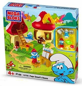 The Smurfs Mega Bloks Set #10709 Papa Smurf's House BLOWOUT SALE!