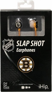 iHip NHL Hockey Sports Earphones Boston Bruins Logo Earbuds
