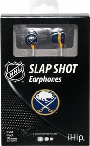 iHip NHL Hockey Sports Earphones Buffalo Sabers Logo Earbuds
