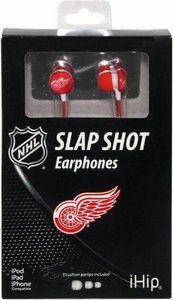 iHip NHL Hockey Sports Earphones Detroit Red Wings Logo Earbuds