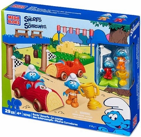 The Smurfs Mega Bloks Set #10745 Smurf Race