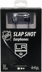 iHip NHL Hockey Sports Earphones Los Angeles Kings Logo Earbuds