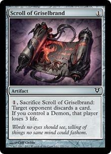 Magic the Gathering Avacyn Restored Single Card Artifact Common #221 Scroll of Griselbrand