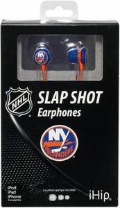 iHip NHL Hockey Sports Earphones New York Islanders Logo Earbuds