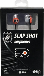 iHip NHL Hockey Sports Earphones Philadelphia Fliers Logo Earbuds
