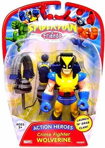 Spider-Man & Friends Super Heroes Action Figure Crime Fighter Wolverine