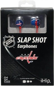 iHip NHL Hockey Sports Earphones Washington Capitals Logo Earbuds